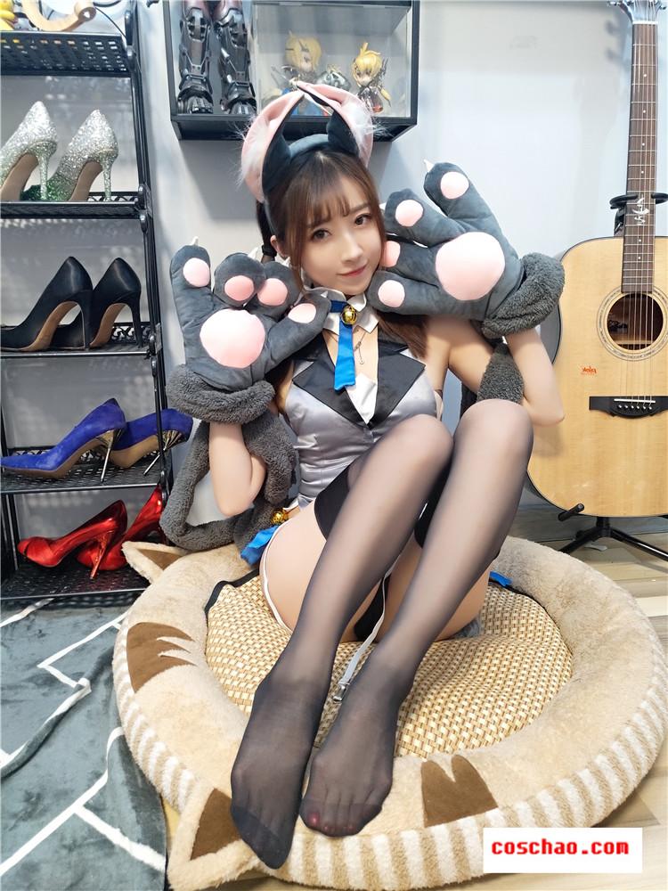 斗鱼主播女巫露娜-性感靓女写实伊俐亚猫女娘COSPLAY原图[30P-152MB]