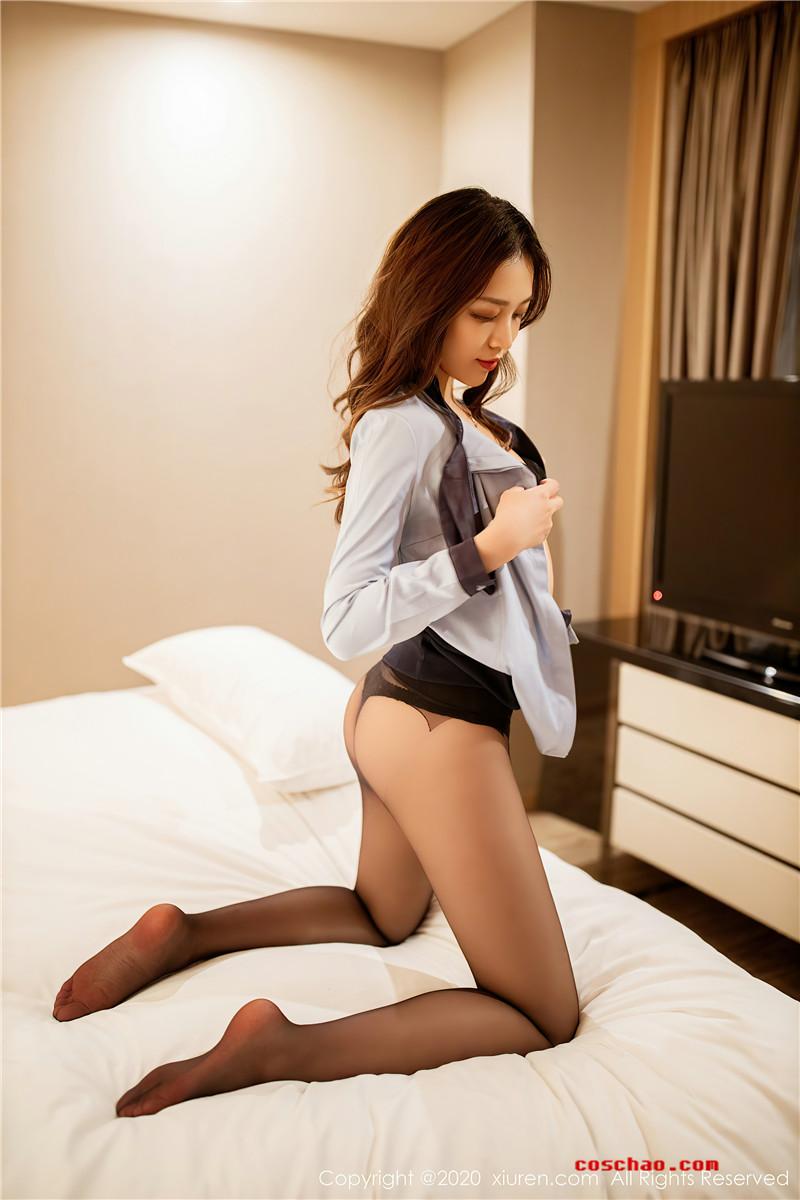 XiuRen秀人网美媛馆No.2877 郑颖姗文秘风[53P]